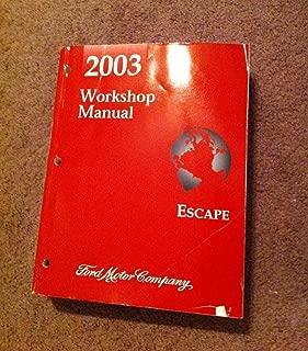 2003 Ford Escape Workshop Manual (Complete Volume)