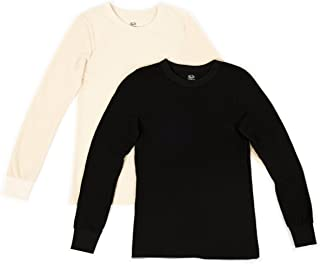 Fruit of the Loom Mens 2 Pack Classic Midweight Waffle Thermal Tops