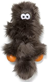 West Paw Sanders, Rowdies with HardyTex and Zogoflex, Durable Plush Dog Toy for Medium to Large Dogs, Pewter Fur