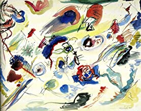 Wassily Kandinsky - Untitled (First Abstract Watercolor), Size 24x30 inch, Gallery Wrapped Canvas Art Print Wall décor