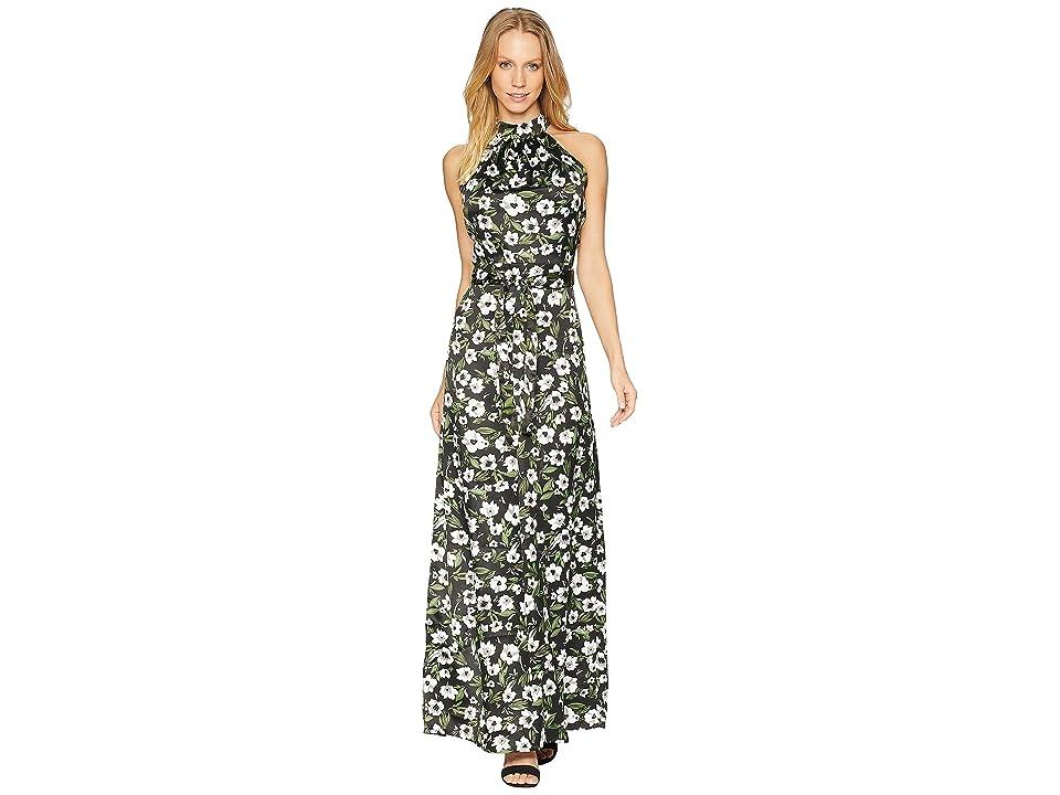 Bebe Halter Maxi Dress (Mystique Print) Women