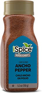 iSpice PREMIUM ANCHO PEPPER |GROUND| All Purpose |Essential Kitchen Spices |All natural |5.3 oz (150g)