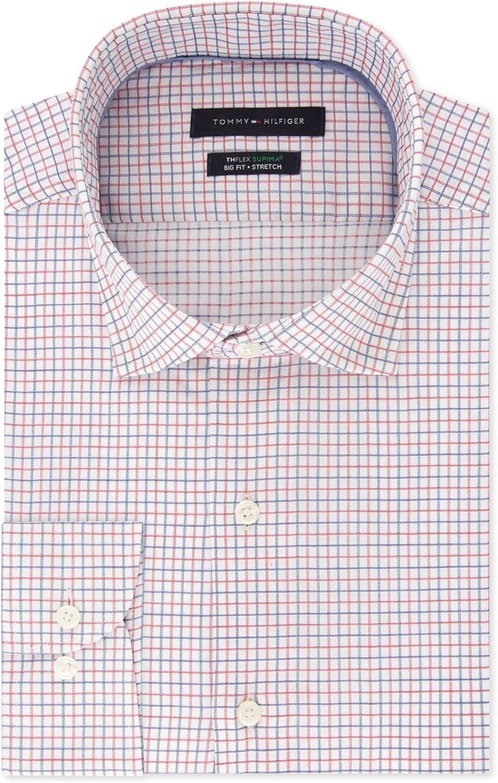 Tommy Hilfiger Mens Regular Fit Stretch Button Up Dress Shirt
