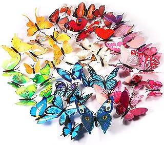 Foonii® 3D Papillons Papiers Décoration pour décoration de Maison et de Pièce, Stickers Muraux (72 Pièces)