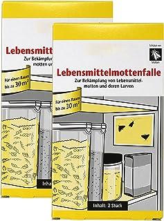 com-four® 4 trampas para polillas de Comida, Trampa para polillas y Larvas de Comida (04 Piezas ...