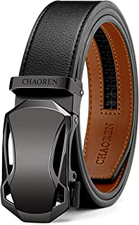CHAOREN Men's Automatic Belt for Men, Ratchet Leather Belt 35 mm Wide with Gift Box - - One size