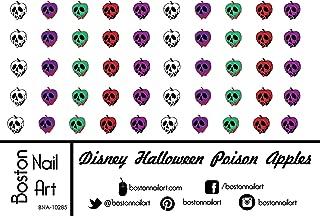 poison apple nail art