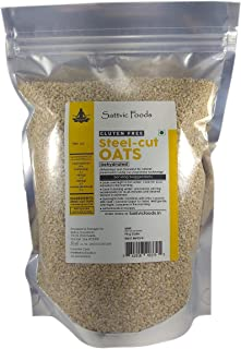 Sattvic Foods Gluten-Free Steel Cut Oats (Scottish Oatmeal) Bag, 1 kg
