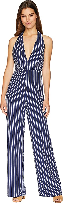 All The Way Up Striped Rayon Challis Jumpsuit