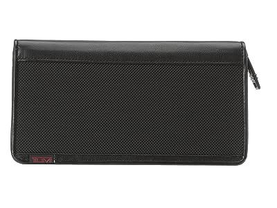 Tumi Alpha Zip Around Travel Wallet (Black) Wallet Handbags