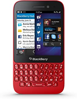 BlackBerry (Q5 SQR100-2) 8GB (GSM Only, No CDMA) Unlocked GSM 4G LTE Dual-Core OS 10.2 Smartphone (Red) - International Version