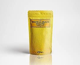 Cuentas de cera de abeja, color amarillo, grado cosmético, 100 g