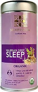 Secrets Of Tea Valerian Root Tea - Natural USDA Organic Caffeine-Free Tea for Sleep Aid - Herbal Tea for Sleeping and Rela...