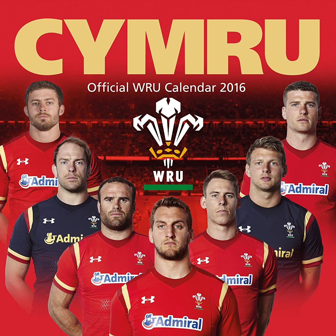 十億ほめるに対応The Official Welsh Rugby Union 2016 Square Calendar (Calendar 2016)
