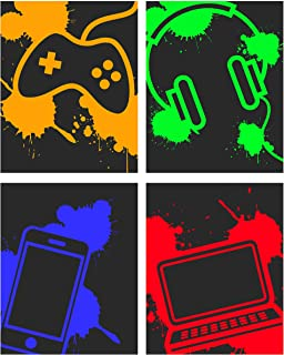 Tech Themed Art Print Room Wall Decoration (Set or Four)