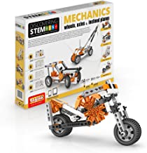 Engino Discovering STEM Mechanics Wheels, Axles and Inclined Planes   14 Working Models   Illustrated Instruction Manual   Theory & Facts   Experimental Activities   STEM Construction Kit