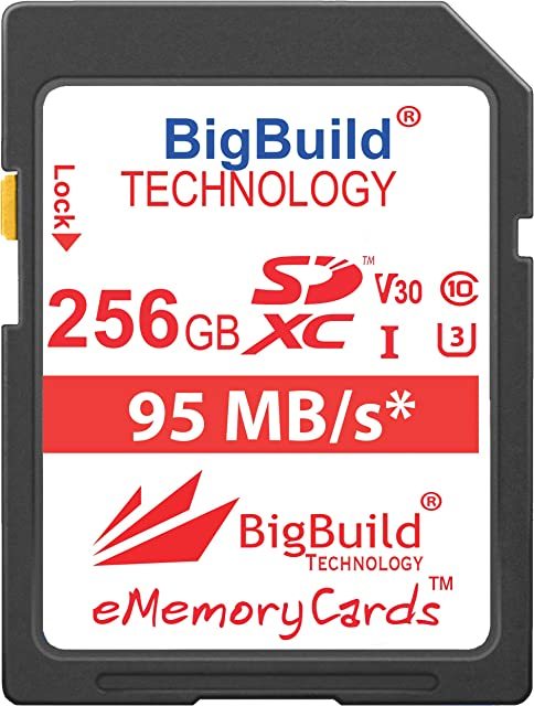 BigBuild Technology UHS-I U3 - Tarjeta de Memoria para cámara Canon EOS 1200D 1300D 2000D 200D 4000D 5DS 5DS R 77D 800D 80D 9000D 5D Mark IV 6D Mark II M100 M3 M5 M50 M6 R