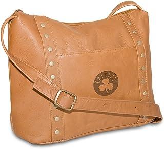 NBA Tan Leder Damen Mini Top Zip Handtasche