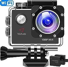 Victure Action Cam WIFI Videocamera Impermeabile Full HD 1080P Cam Subacquea Fotocamera Profondità 30m Schermo LCD da 2 pollici 170 ° Ultra Grandangolare con 2 Batterie Ricaricabili e Kit di Montaggio