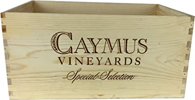 Caymus Wine Crate - 6 Bottle Decorative Wooden Wine Box for Wine Country Home Decor Wedding Decor Storage Organization DIY Projects Gift Box Garden Planter Box