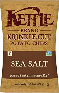 Kettle Brand Potato Chips, Krinkle Cut Sea Salt, 13 Ounce