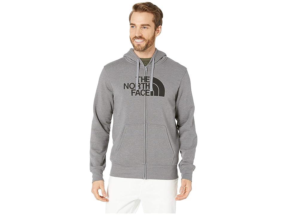 The North Face Half Dome Full Zip Hoodie (TNF Medium Grey Heather/TNF Black 1) Men