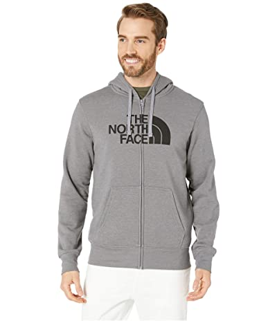 The North Face Half Dome Full Zip Hoodie (TNF Medium Grey Heather/TNF Black 1) Men