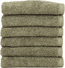 Linum Home Textiles Soft Twist Premium Authentic Soft 100% Turkish Cotton Luxury Hotel Collection Washcloth, Set of 6, Lig...