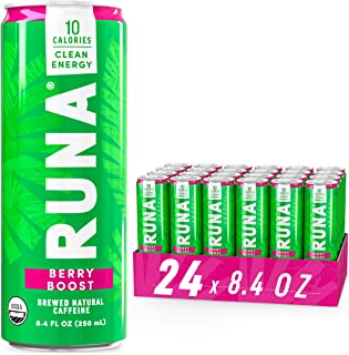 RUNA Organic Clean Energy Drink, Berry | High Caffeine Coffee Alternative | Sustained Energy Boost with No Jitters | Natur...