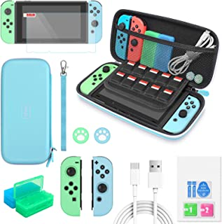 Switch Accessories Bundle - MENEEA 12 in 1 Accessories kit with Carrying Case, Screen Protector, Game Storage Case, Silico...