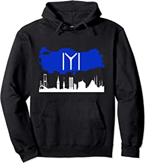 Kayi Tribe flag on the map of Turkey over Istanbul hoodie