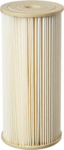 """Pentek ECP1-BB Pleated Cellulose Polyester Filter Cartridge, 9-3/4"""" x 4-1/2"""", 1 Micron"""