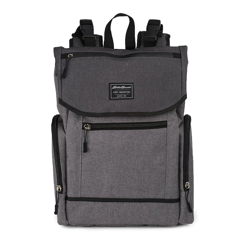 Eddie Bauer Back Pack Diaper Bag, Laminate Grey
