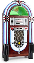 $639 » Auna Graceland Jukebox • USB • SD • AUX • AM/FM Radio • MP3 • CD-Player • LED • 50s Classic Style • 2-Band Equaliser • Pro...