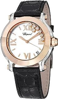 Chopard Happy Sport Round Womens Two Tone Diamond Watch 278492-9001