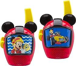 Mickey and The Roadster Racers Walkie Talkies for Kids Static Free Extended Range Kid Friendly Easy to Use 2 Way Walkie Talkies