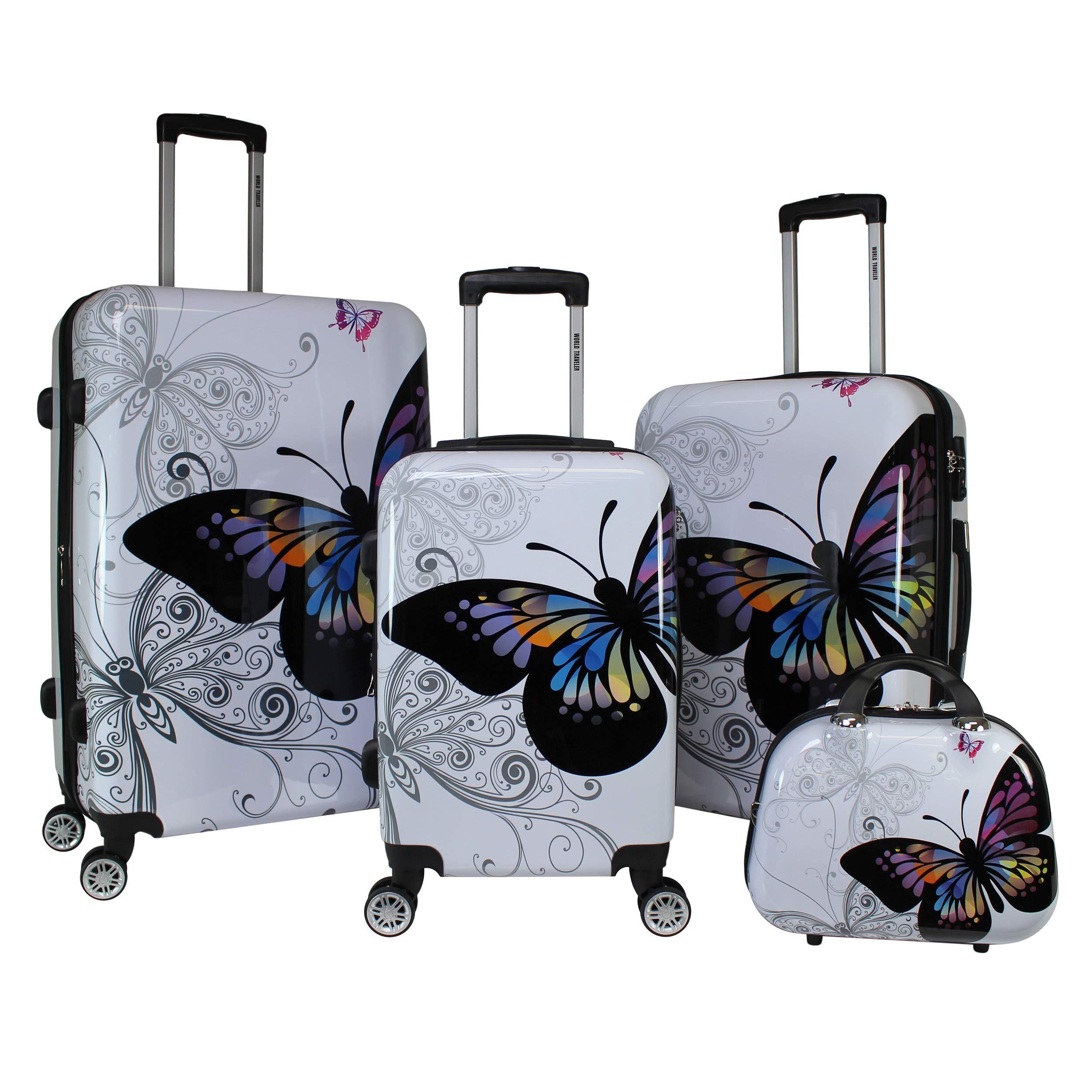 World Traveler 4 Piece Hardside Butterfly