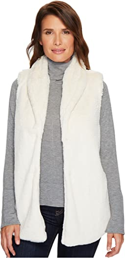 Dylan by True Grit - Textured Silky Faux Fur Shawl Collar Vest