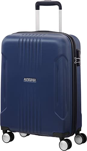 American Tourister Tracklite - Spinner Small Bagage Cabine, 55 cm, 34 liters, Bleu (Dark Navy)