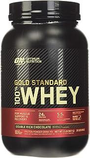 Optimum Nutrition ON Gold Standard weiproteïnepoeder, eiwitpoeder spieropbouw met glutamine en aminozuren, natuurlijk opge...