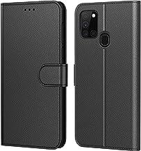 Tenphone Etui Coque pour Samsung Galaxy A21s,Plusieurs Couleurs Disponible,Protection Etui Housse Premium en Cuir PU,Fermeture Magnétique pour (Galaxy A21s, Book Noir)