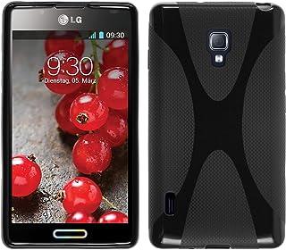 a0fcc653e23 PhoneNatic Funda de Silicona Compatible con LG Optimus L7 II - X-Style  Negro -