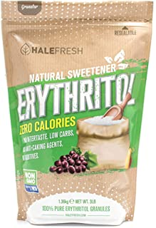 Erythritol Sweetener Natural Sugar Substitute 3lb - Granulated Low Calorie Sweetener High Digestive Tolerance Suitable for...