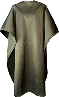 JNxcel Premium Quality Water Repellent Nylon/Polyester Fabric Hair Salon & Barber Hair Cutting & Shampoo Cape with Snap Closure (Olive Green)