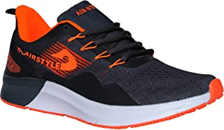 MAX AIR Sports Running Shoes for Men Grey Orange