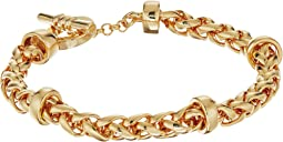 LAUREN Ralph Lauren Back to Basics II Braided Gold Chain Bracelet