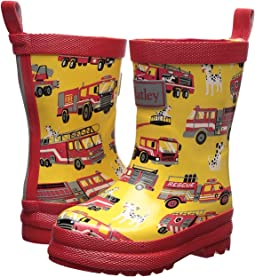 Hatley Kids - Fire Trucks Rain Boots (Toddler/Little Kid)