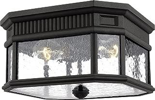 Feiss OL5433BK Cotswold Lane Outdoor Flush Mount Ceiling Lighting, Black, 2-Light (12