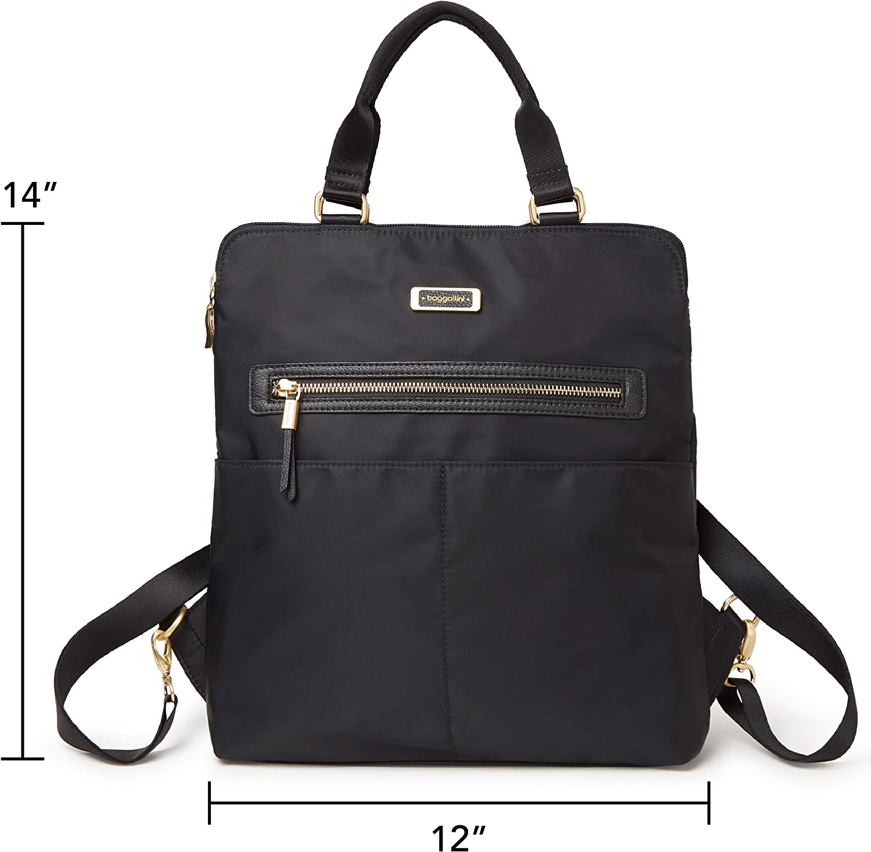 Baggallini womens Jessica Convertible Tote Backpack Tote Backpack
