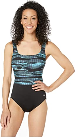 Scoop Neck Control Fit One-Piece
